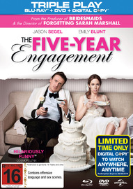 The Five Year Engagement Blu-ray/DVD/Digital Copy on DVD, Blu-ray, DC
