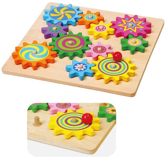 Wooden Toys - Spinning Gears image