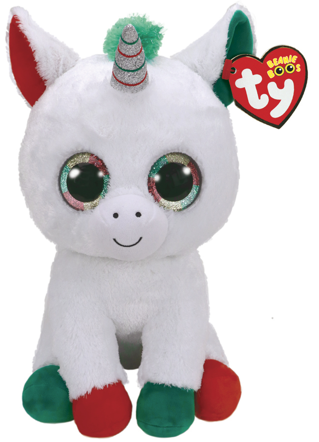 Ty Beanie Boo: Candy Cane Unicorn - Large Plush image