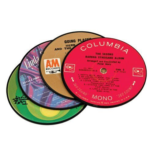 True: Recycled Record Coasters - 4-Pack