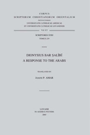 Dionysius Bar Salibi by J.P. Amar