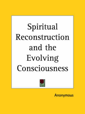 Spiritual Reconstruction (1919) by * Anonymous