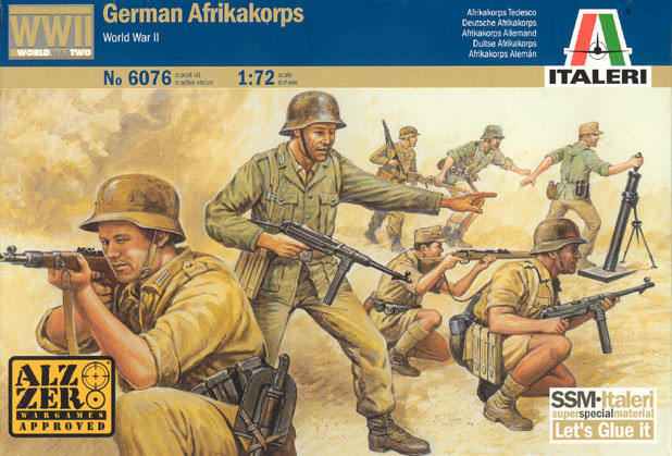 Italeri German Afrikakorps (WWII) 1:72 Model Kit