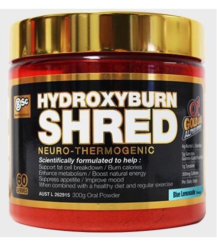 BSC Hydroxyburn SHRED Neuro Thermogenic - Blue Lemonade (60 Serve)