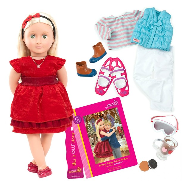 "Our Generation: 18"" Deluxe Doll & Book - Ginger"