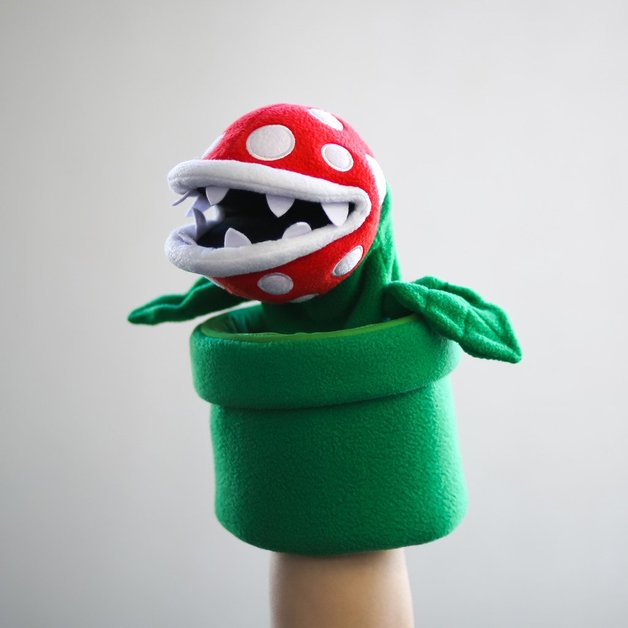 "Super Mario Bros: Piranha Plant - 10"" Plush Puppet"