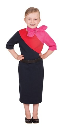 Qantas Cabin Crew Dress - Children's Costume (Ages 3-5)