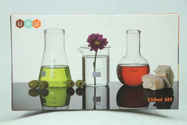 Science Lab Flasks - Glass (Set of 3)