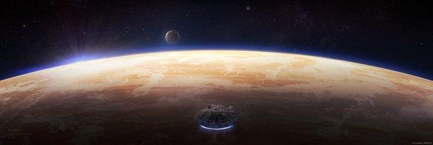 Star Wars: A New Hope Tatooine R-16 - Lithograph Art Print