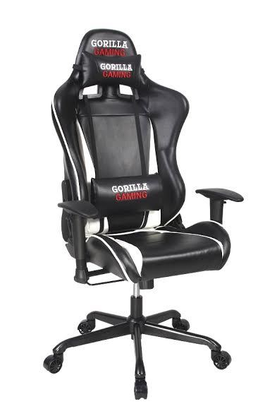 Gorilla Gaming Commander Chair - White & Black for  image