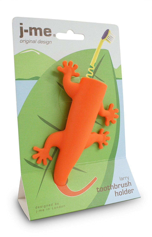 J-me: Larry the lizard Toothbrush Holder - Orange image