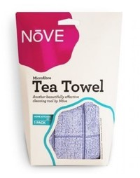Nove Microfibre Tea Towel - Blue (Single Pack)