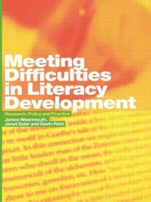 Meeting Difficulties in Literacy Development by Janice Wearmouth image