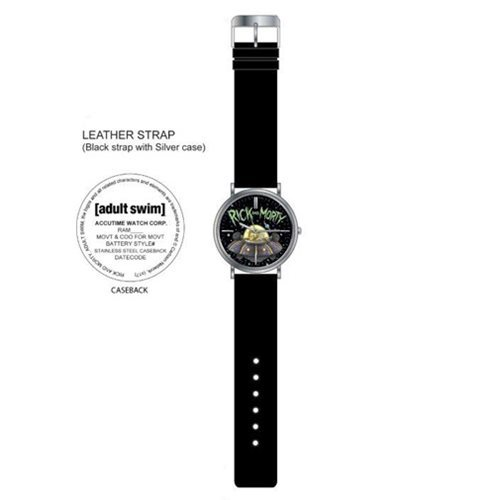 Rick and Morty: Black Leather Strap Watch image