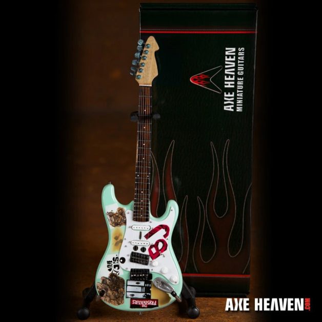 Axe Heaven: Miniature Replica - BJ Blue Guitar (Billie Joe Armstrong)