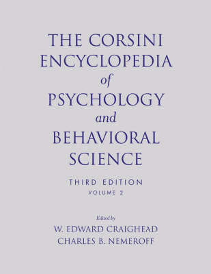 The Corsini Encyclopedia of Psychology and Behavioral Science, Volume 2 image
