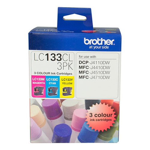Brother Ink Cartridge LC133CL3PK (Multi Color) image
