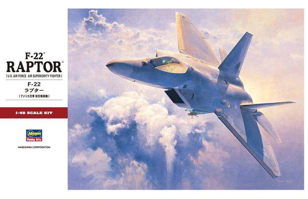 Hasegawa: 1/48 F-22A Raptor - Model Kit
