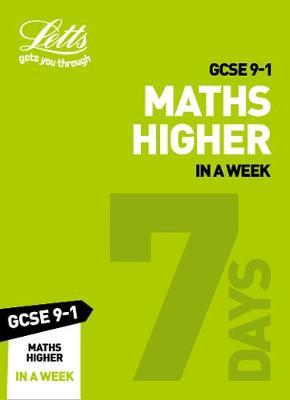 GCSE 9-1 Maths Higher In a Week by Letts GCSE image