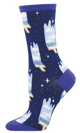 Women's Paint The Sky Crew Socks - Navy