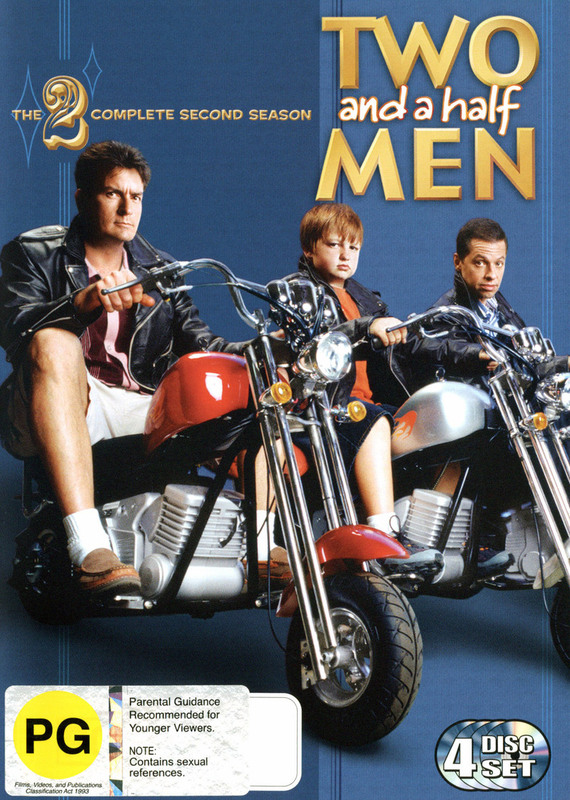 Two And A Half Men -The Complete Second Season (4 Disc Set) on DVD