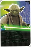 Star Wars: Deluxe Birthday Card With Build-Your-Own Pop Out - Yoda