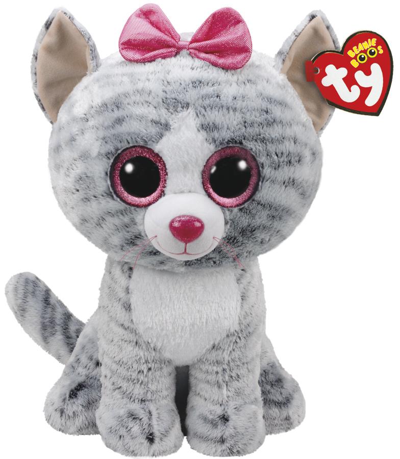 Ty Beanie Boo: Kiki Grey Cat - Large Plush image