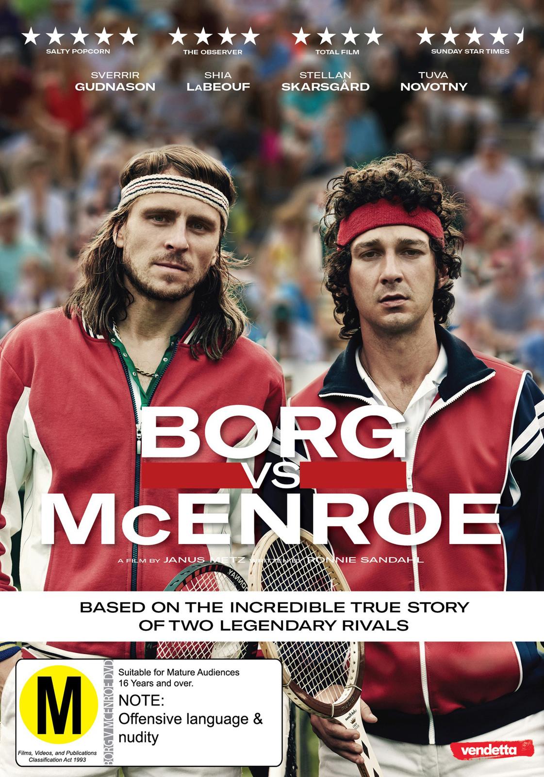 Borg vs McEnroe on DVD image