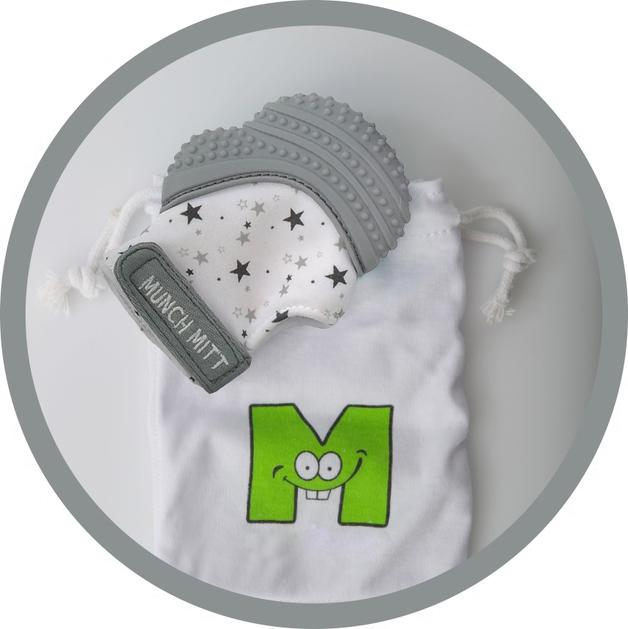 Munch Mitt - Grey Stars