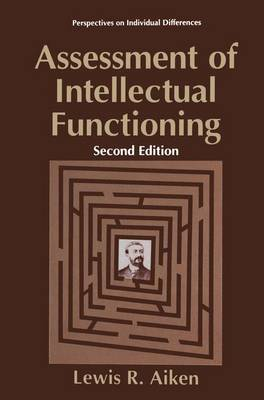 Assessment of Intellectual Functioning by Lewis R Aiken