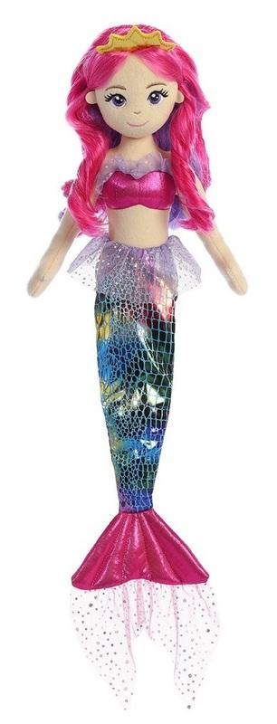 Sea Sparkles: Mermaid - Rainbow Fuchsia (45cm)