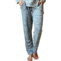 Hello Mello: Melange Heathered Lounge Pants - Gray (Small)