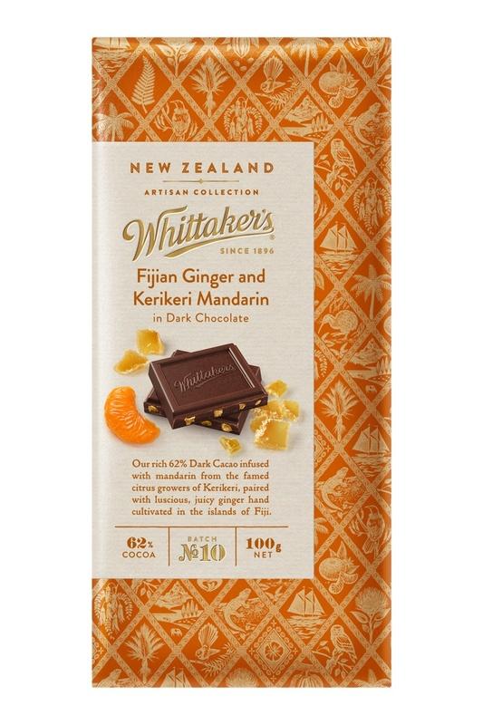 Whittaker's Fijian Ginger Mandarin in Dark Chocolate 100g
