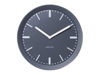 Karlsson Wall Clock - Metal Spun (Grey)