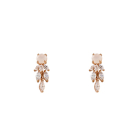 Short Story Drop Earring Cascade - Rose Gold image