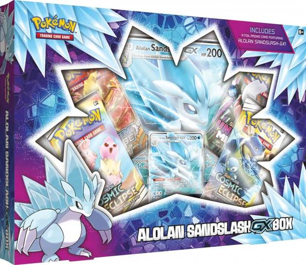 Pokemon TCG: Alolan Sandslash GX Box