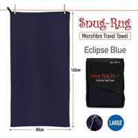 Snug Rug Microfibre Quick Dry Beach Towel - Eclipse Blue (Large)