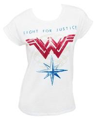 DC Comics: Wonder Woman Fight For Justice - Roll Sleeve T-Shirt (Medium)