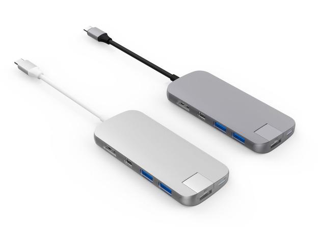 HyperDrive: SLIM Hub USB-C - Space Gray