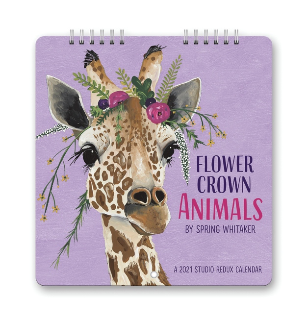 Orange Circle Studio: Calendar 2021 Redux - Flower Crown Animals