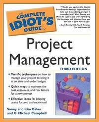 Complete Idiot's Guide to Project Management with Microsoft Project 2000 by Sunny Baker image