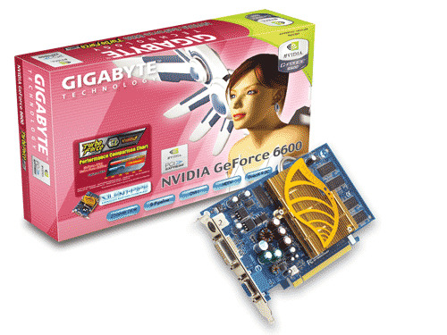 Gigabyte Graphics Card NVIDIA GeForce 6600 256M SLI PCIE