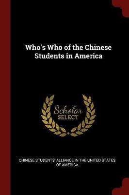 Who's Who of the Chinese Students in America image