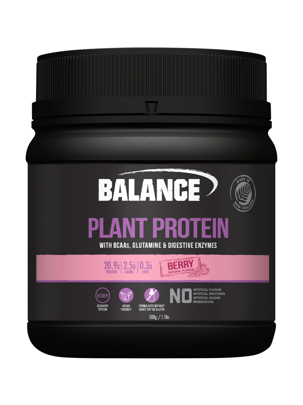 Balance Plant Protein - Berry (500g) image