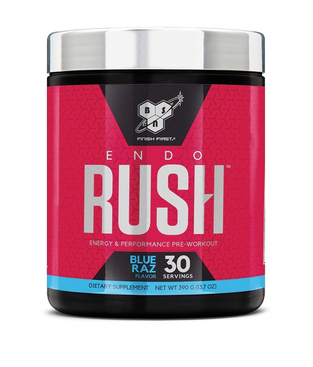 BSN Endorush Pre-Workout - Blue Raspberry (30 Serves, 390g)
