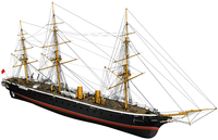 Billing Boats HMS Warrior 1861 Wooden 1/100 Model Kit