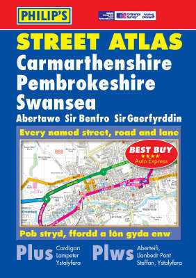 Philip's Street Atlas Carmarthenshire, Pembrokeshire and Swansea