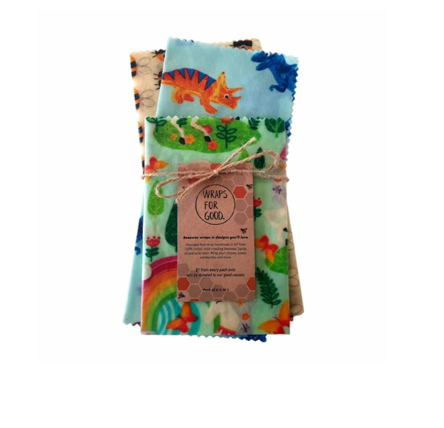 Beeswax Wraps Reusable Food Wrap - Kids Mixed