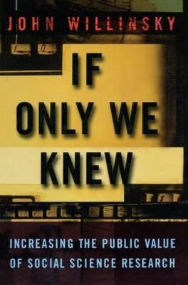 If Only We Knew by John Willinsky image