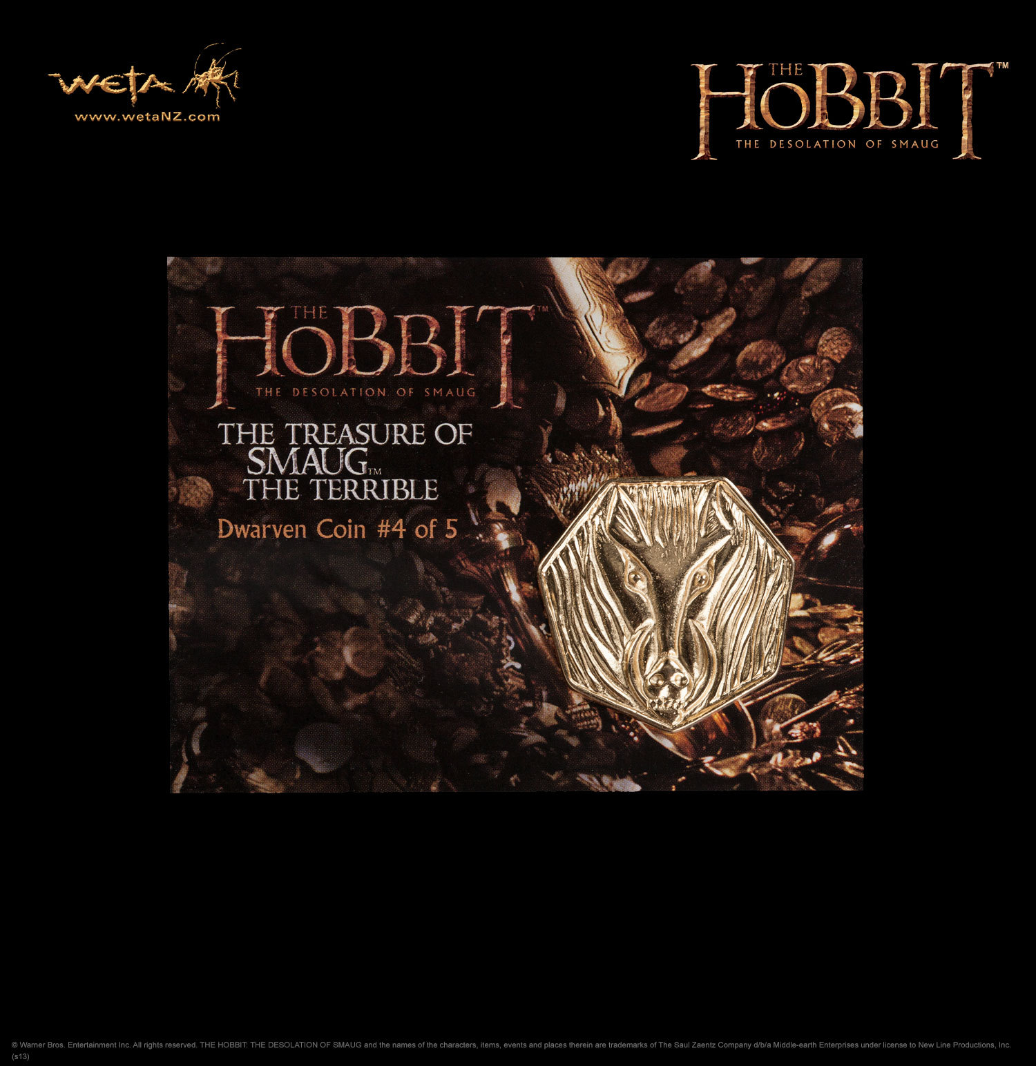 The Hobbit: Desolation of Smaug Treasure Coin #4 - by Weta image